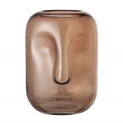 Bloomingville Vase Marron Visage