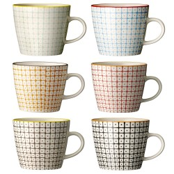 Bloomingville Carla Mug Multi-color (set of 6)