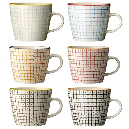 Bloomingville Carla Mug Multi-color (set van 6)