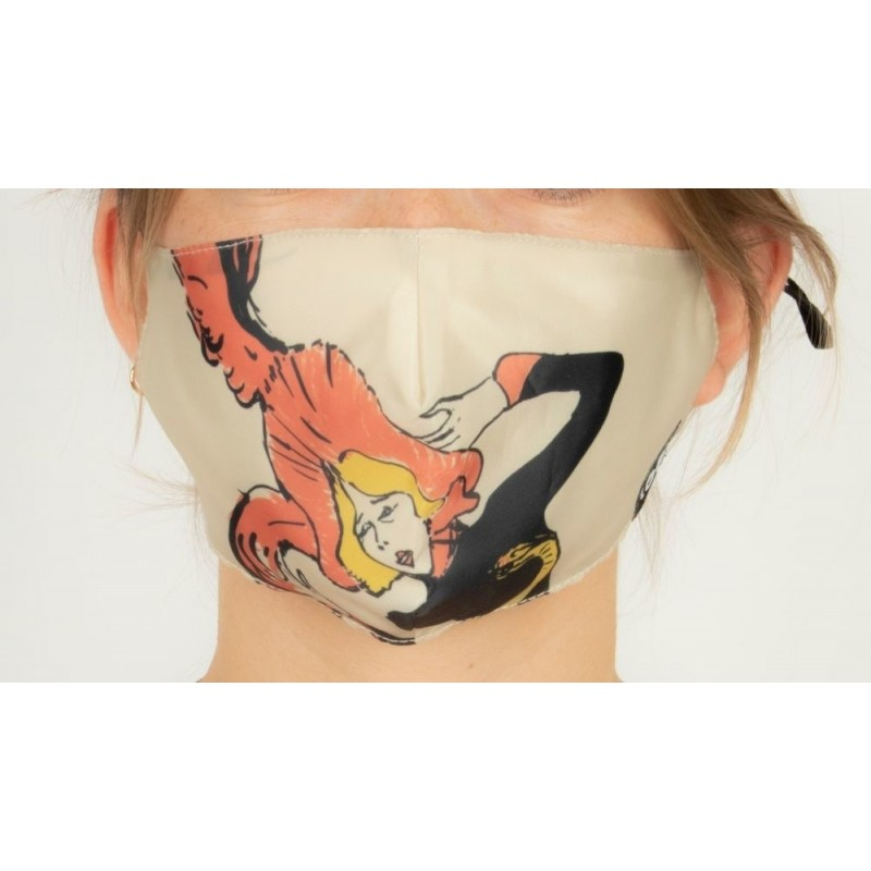 Loqi Mouth Mask Toulouse Lautrec - Jane Avril