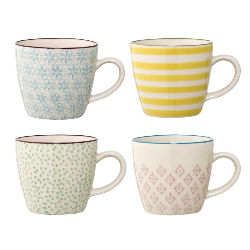 Bloomingville Patrizia Mug Multi-color (set van 4)