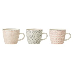 Bloomingville Cécile Mug Multi-color (set van 3)
