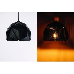 Qualy Icosa Stripe Lamp - Black