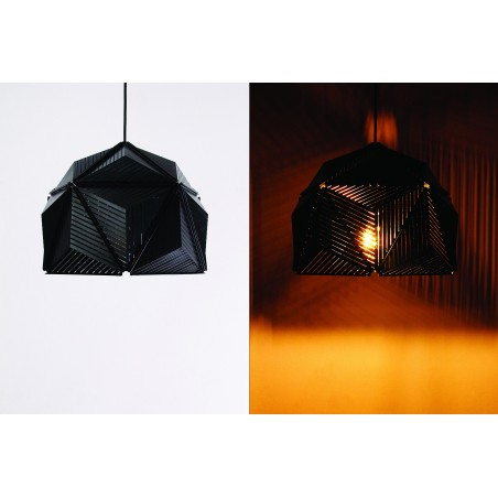 Qualy Icosa Stripe Lamp - Noir