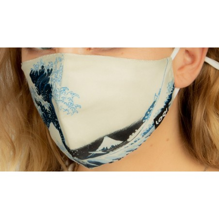 Loqi Mouth Mask Katsushika Hokusai - The Great Wave