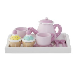 Bloomingville Wooden Tea Set - Pink