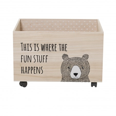 Bloomingville Storage Box with wheels - Kesa