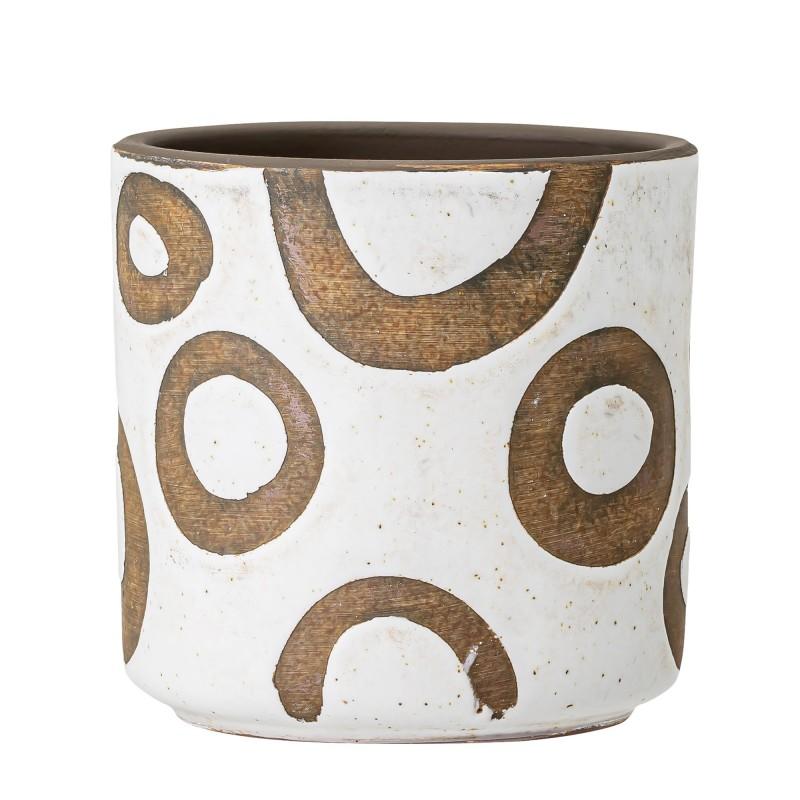 Bloomingville Flowerpot Terracotta - White