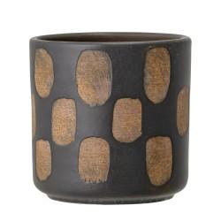 Bloomingville Bloempot Terracotta - Zwart