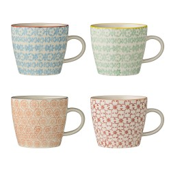 Bloomingville Carla Mug Multi-color (ensemble de 4)