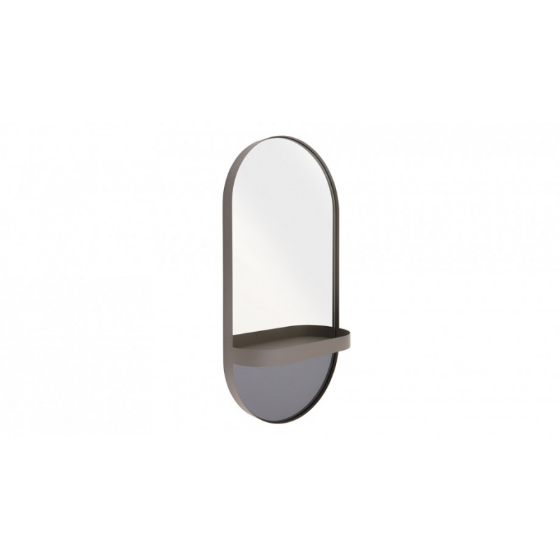 """Remember Wall-mounted mirror with shelf """"Taupe"""""""
