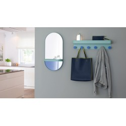 """Remember Wall-mounted mirror with shelf """"Mint"""""""