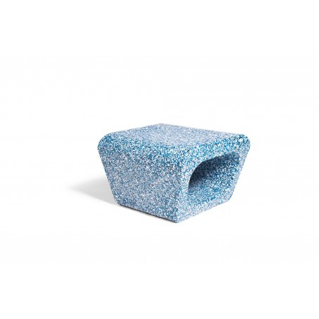 Quinze & Milan Jellyfish Ecopixel Ottoman - Delfts Bleu