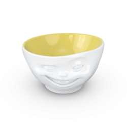 "FIFTYEIGHT Bowl ""Winking"" saffron inside - 500ml"