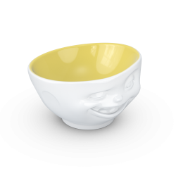 "FIFTYEIGHT Bowl ""Winking"" saffron inside - 500ml"