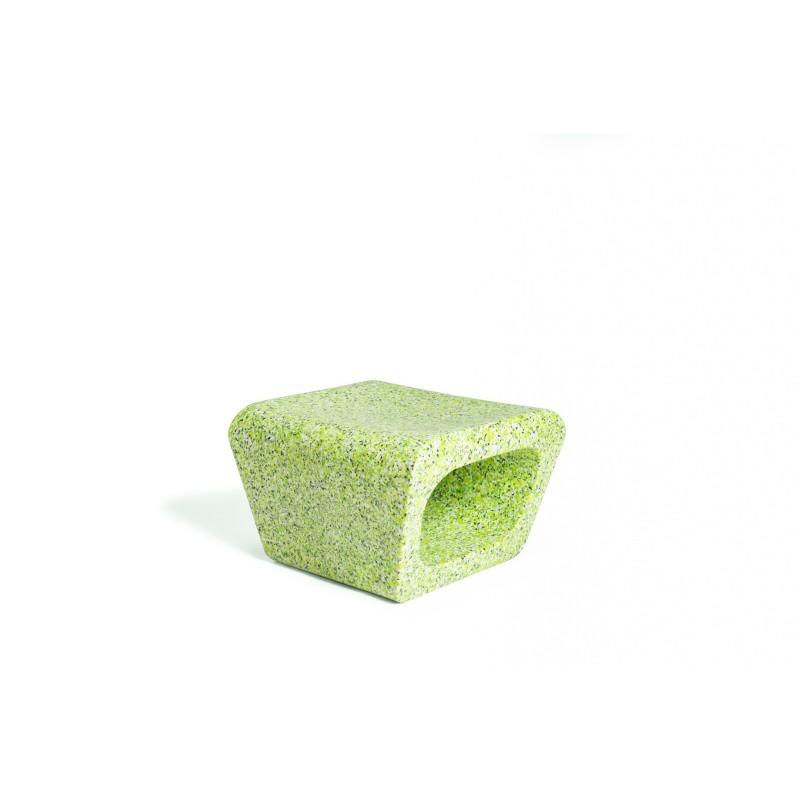 Quinze & Milan Jellyfish Ecopixel Ottoman - Evergreen