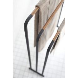 Yamazaki Porte-serviettes de Bain Plain Noir