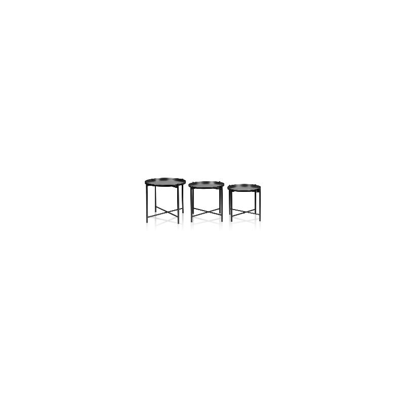 Mondex set van 3 salontafels Lucas zwart