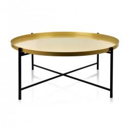 Mondex table LUCAS noir&or