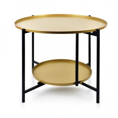 Mondex salontafel 2 niveaus LUCAS zwart&goud