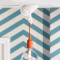 Qualy Icosa Wireframe Lamp - blanc