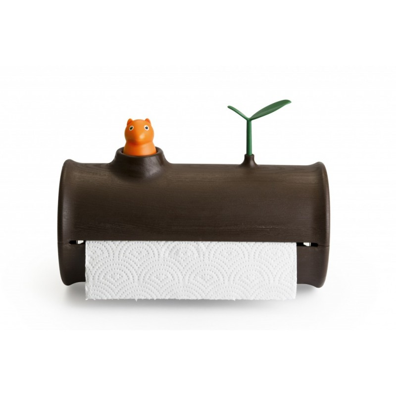 Qualy Log & Roll Paper Holder Squirrel