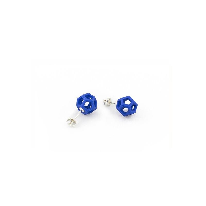 Angular Monogold Boucle d'oreille en Bleu.03