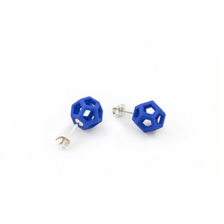 Angular Monogold Blauwe Oorring.03