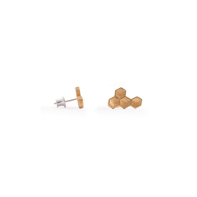 Angular Hexa Gold Earring