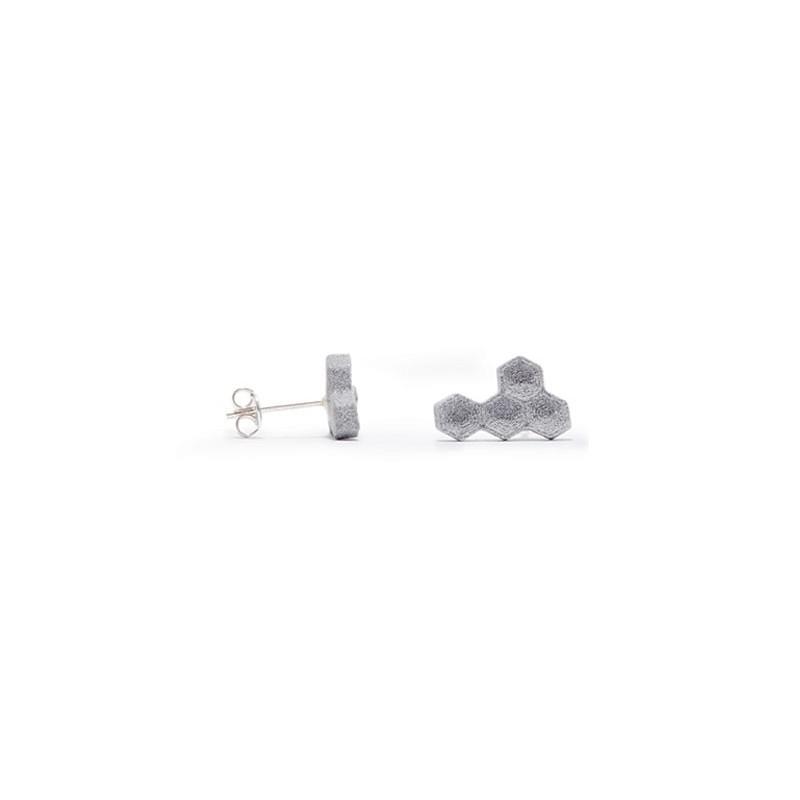 Angular Hexa Boucle d'oreille en Aluminium