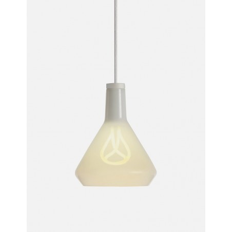 Plumen Shade Pendant Lamp - White/White Drop Cap