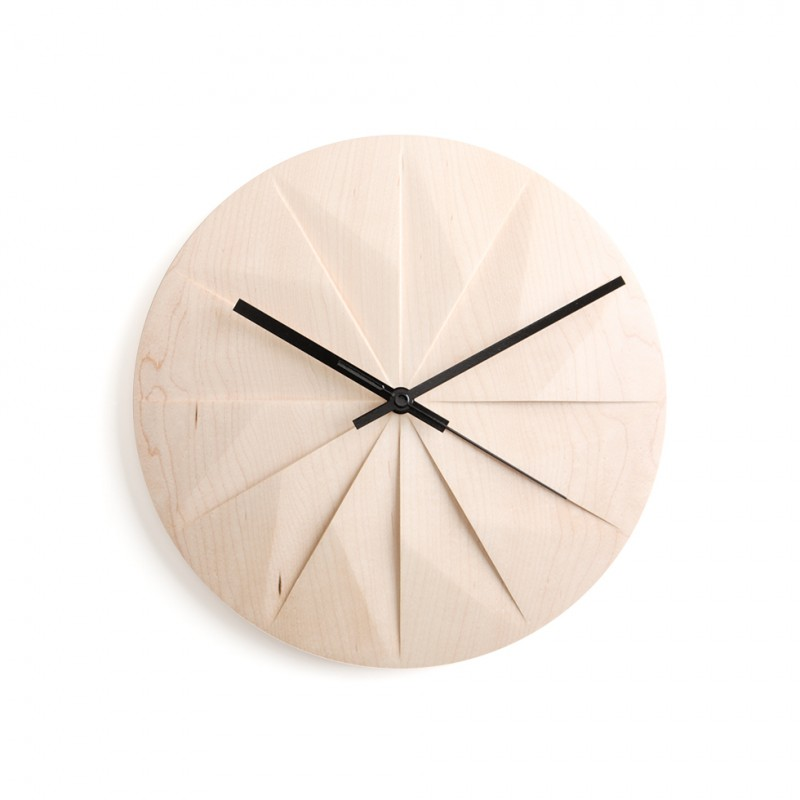 Pana Objects Shady Horloge Murale - Noir