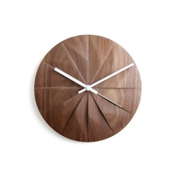 Pana Objects Shady Wall Clock - Walnut/White