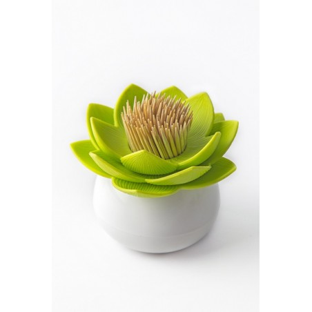 Qualy Lotus Toothpick Holder - Green