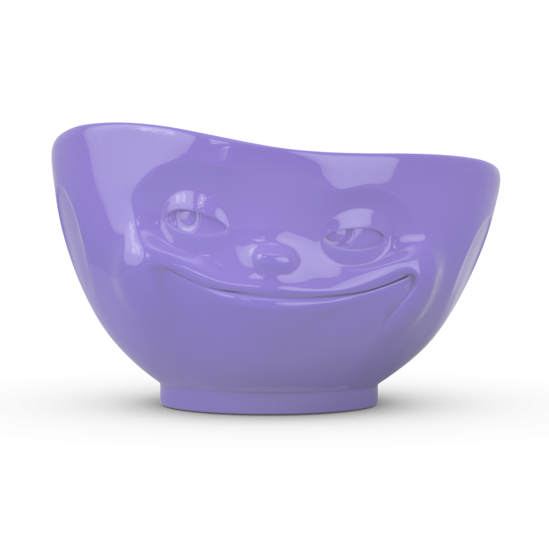 "FIFTYEIGHT Bowl ""Grinning"" - Purple - 500ml"