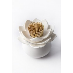Qualy Lotus Toothpick Holder - White