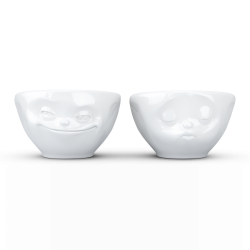 "FIFTYEIGHT Small Bowl Set ""Grinning & Kissing"""