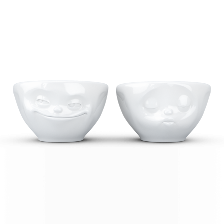 """FIFTYEIGHT Small Bowl Set """"Grinning & Kissing"""""""