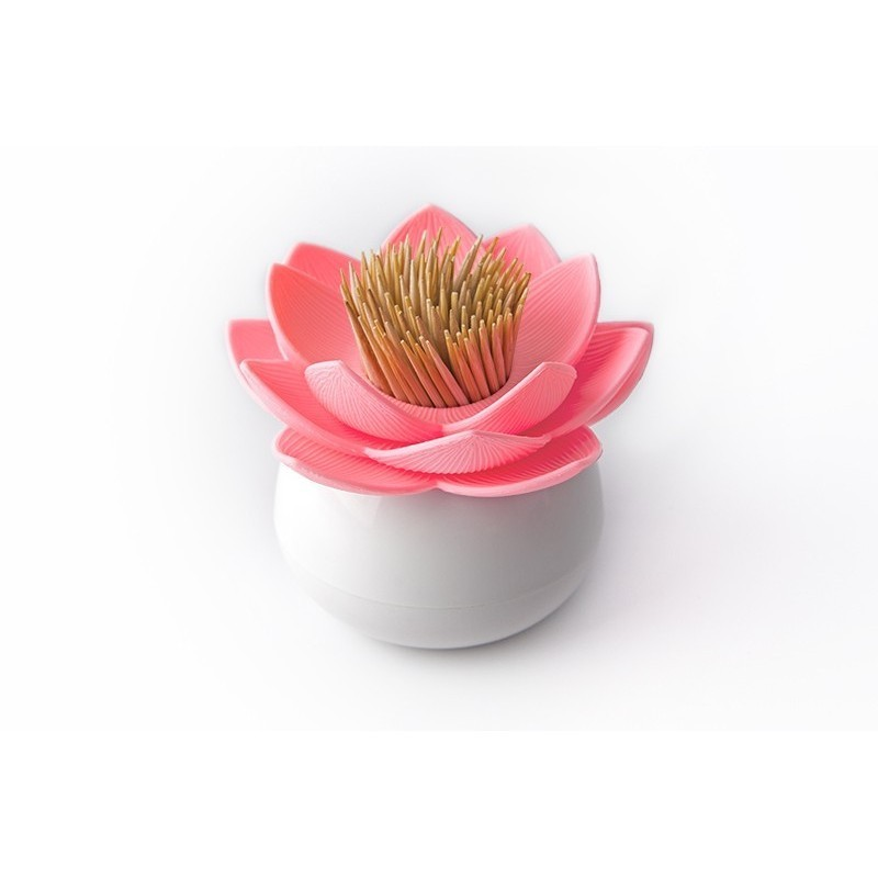 Qualy Lotus Toothpick Holder - Pink