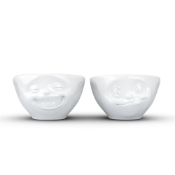 "FIFTYEIGHT Set de 2 Petits Bols ""Gourmand & Rieur"""
