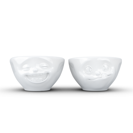 """FIFTYEIGHT Small Bowl Set """"Laughing & Tasty"""""""
