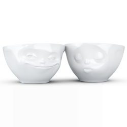 "FIFTYEIGHT Medium Bowl Set ""Grinning & Kissing"""
