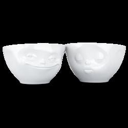 "FIFTYEIGHT Medium Bowl Set ""Grinning & Kissing"""