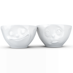 "FIFTYEIGHT Medium Bowl Set ""Happy & Oh Please"""