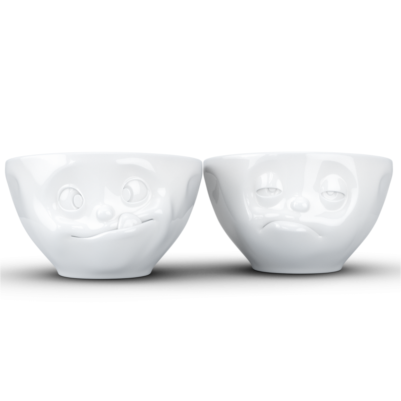 "FIFTYEIGHT Medium Bowl Set ""Tasty & Snoozy"""