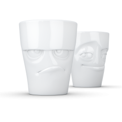 "FIFTYEIGHT Mug set no. 1 ""Grumpy & Impish"" Without Handle"