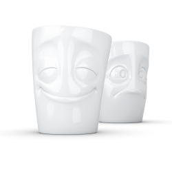 "FIFTYEIGHT Mug set no. 2 ""Cheery & Baffled"" Without Handle"