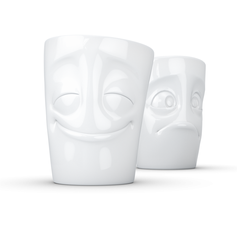"FIFTYEIGHT Mug set no. 2 ""Joyeux & Perplexe"" sans anse"